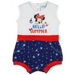 """Disney Minnie """"Hello summer"""" tengerész stílusú ujjatlan baba napozó"""