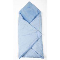 Kék pöttyös 2in1 pólya és takaró