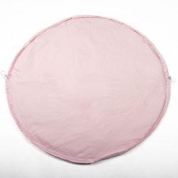 Rózsaszín pöttyös 2in1 játszószőnyeg és játéktároló