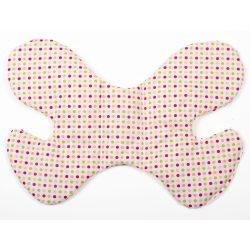 Színes Pöttyös pillangó alakú babapárna
