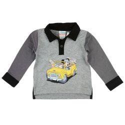 Disney Mickey egér és Donald kacsa galléros hosszú ujjú fiú póló
