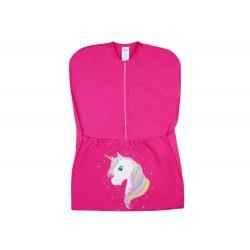 Unikornis mintás lányka vállfás oviszsák - pink