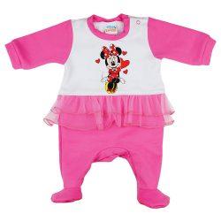 Disney Minnie tüllös| szívecskés| belül bolyhos rugdalózó