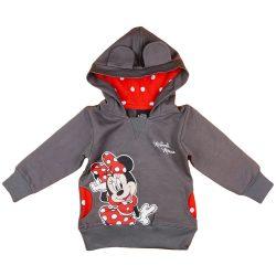 Disney Minnie belül bolyhos kapucnis lányka pulóver pöttyös mintával