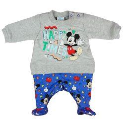 Disney Mickey Happy times hosszú ujjú belül bolyhos rugdalózó