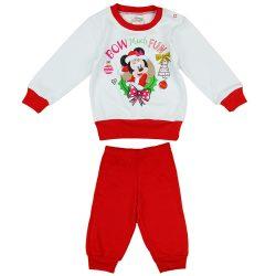 Disney Minnie karácsonyi mintás pizsama