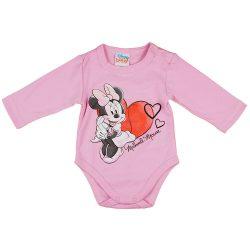 Disney Minnie hosszú ujjú baba body rózsaszín