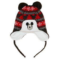 Disney Mickey kötött  bélelt  bojtos sapka