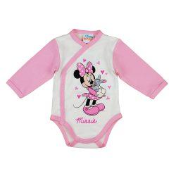 Disney Minnie nyuszis hosszú ujjú baba body fehér