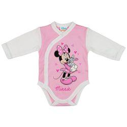 Disney Minnie nyuszis hosszú ujjú baba body rózsaszín