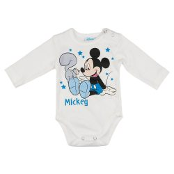 Disney Mickey mókusos hosszú ujjú baba body fehér