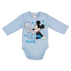 Disney Mickey mókusos hosszú ujjú baba body kék