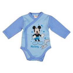 Disney Mickey mókusos elöl patentos hosszú ujjú baba body