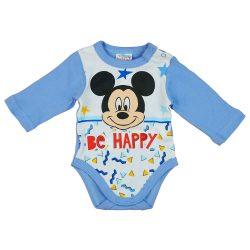 """Disney Mickey """"Be happy"""" hosszú ujjú baba body"""