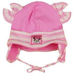 Disney Minnie fülvédős  megkötős baba sapka
