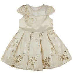 Arany színű ujjatlan alkalmi lányka ruha