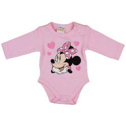 Disney Minnie szívecskés glitteres hosszú ujjú baba body