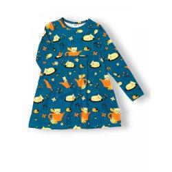 JNY organikus pamut kislány ruha - őszi macska