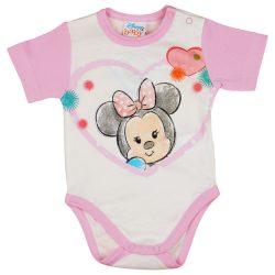 "Disney Minnie ""rajzos"" rövid ujjú baba body fehér"