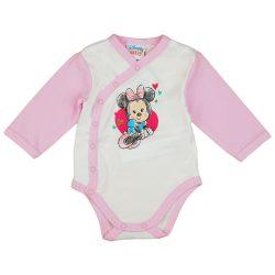 Disney Minnie hosszú ujjú baba body fehér