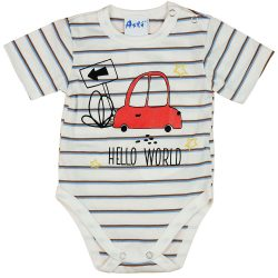 Autós rövid ujjú baba body