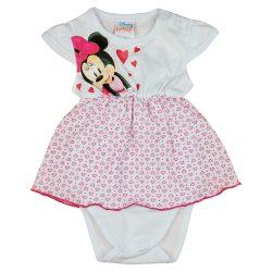 Disney Minnie szívecskés rövid ujjú szoknyás baba body
