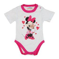 Disney Minnie szíves nyuszis rövid ujjú baba body