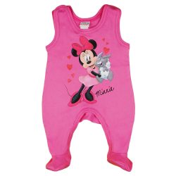 Disney Minnie szívecskés| nyuszis ujjatlan baba rugdalózó