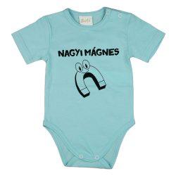 Nagyi mágnes feliratos rövid ujjú baba body