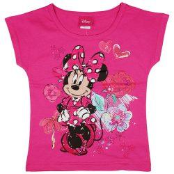 Disney Minnie szíves virágos lányka póló