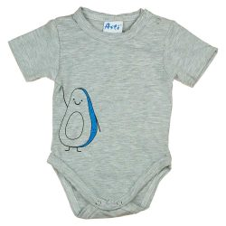 Mini&Me rövid ujjú baba body Avokádó mintával