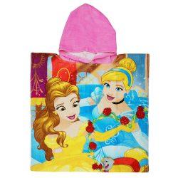 Disney Princess/ Hercegnők mintás kapucnis fürdőponcsó