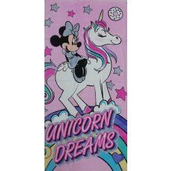 Disney Minnie és Unikornis mintás pamut strandtörölköző