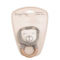 Baby Hug - Kötött oroszlán fogantyúval - 13 cm