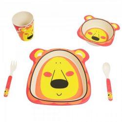 BabyLion BPA-mentes Bambusz étkészlet - Oroszlán !! KIFUTÓ !!