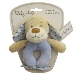 Baby Hug Plüss csörgő - kék kutya - 15 cm