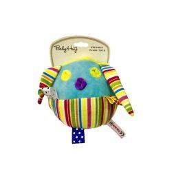 Baby Hug Plüss csörgő labda - színes csíkos - 14 cm
