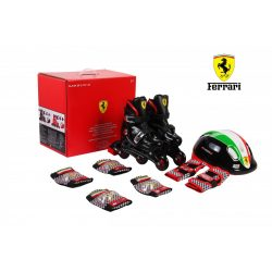 Chipolino Ferrari görkorcsolya + biztonsági szett 29-32 méret - fekete !! Kifutó !!