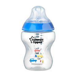 Tommee Tippee Közelebb a természeteshez BPA-mentes cumisüveg 260ml színes kék