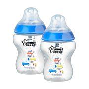 Tommee Tippee Színes cumisüveg duo 2x260ml kék