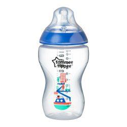 Tommee Tippee Közelebb a természeteshez BPA-mentes cumisüveg 340ml színes sötét kék