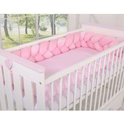 BabyLion Prémium Fonott plüss rácsvédő - Rózsaszín
