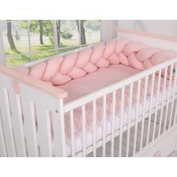 BabyLion Prémium Fonott rácsvédő - Púder pink