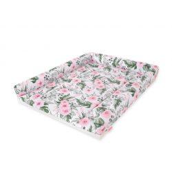 BabyLion Prémium Puha pelenkázó lap - Rózsaszín virágok (55x75)
