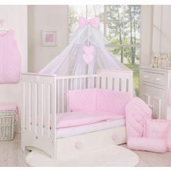 BabyLion Prémium Royal 5 részes ágynemű szett - Rózsaszín