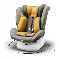 Lionelo Bastiaan One 360°-ban forgatható IsoFix gyermekülés 0-36 kg  - Yellow Mustard