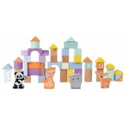 Sun Baby Fa építőkockák (50 db-os készlet) - Állatok