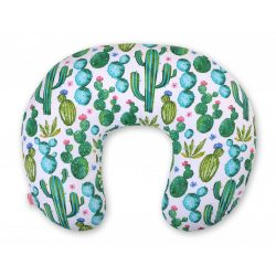 BabyLion Prémium Etető párna - Zöld kaktuszok