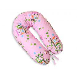 BabyLion Prémium XXL szoptatós párna - Rózsaszín baglyok