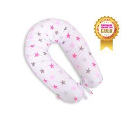 BabyLion Prémium XXL szoptatós párna - Rózsaszín csillagok